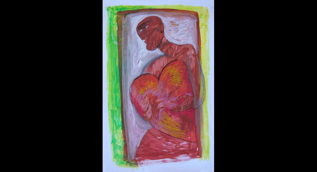 saad ali artist drawings color tecnica mixta carton 01