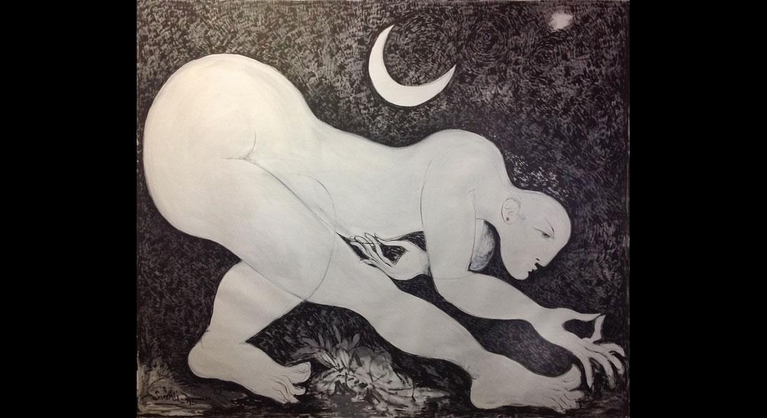 saad ali artist paintings canvas bw 01
