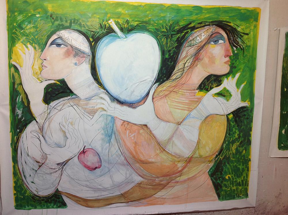 saad-ali-pareja-con-manzana