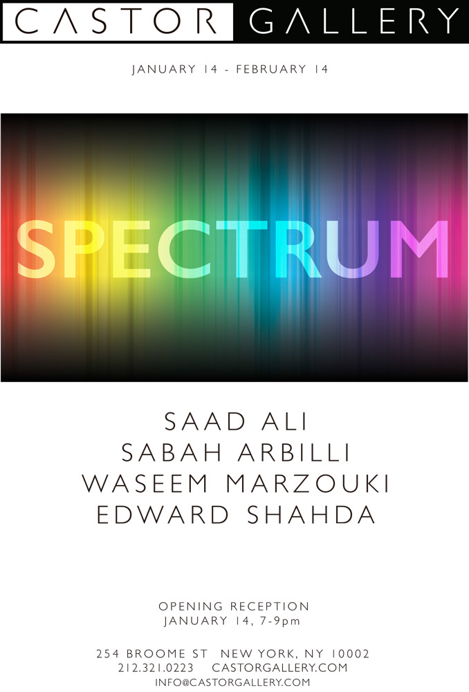 Saad Ali. New Exhibition. New York. January 14th - February 14th. 2016